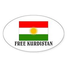Free Kurdistan Oval Decal