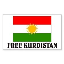 Free Kurdistan Rectangle Sticker 10 pk)