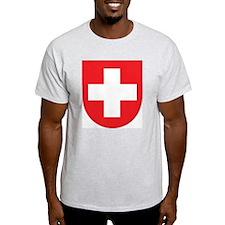 Switzerland Coat Of Arms Ash Grey T-Shirt
