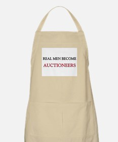 Real Men Become Auctioneers BBQ Apron