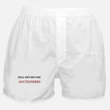 Real Men Become Auctioneers Boxer Shorts