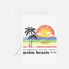 Palm Beach Florida Vintage Greeting Card