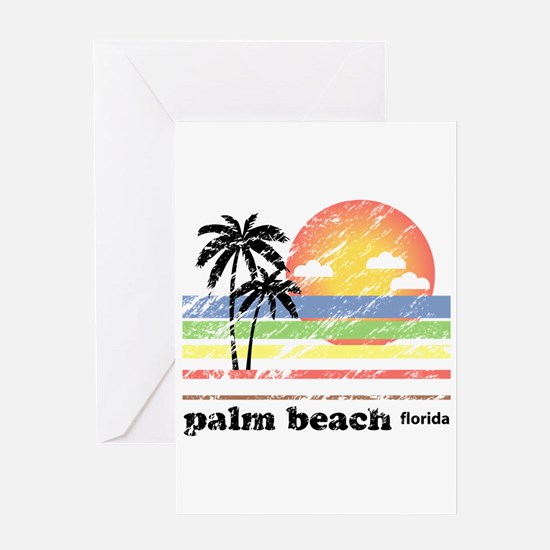 Palm Beach Florida Vintage Greeting Card