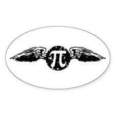 Winged Pi Oval Decal