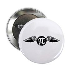 "Winged Pi 2.25"" Button"