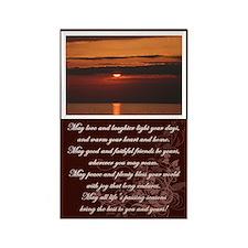 Sunset & Irish Blessing Rectangle Magnet (10 pack)
