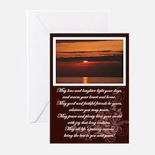 Sunset & Irish Blessing Greeting Cards (Pk of 10)
