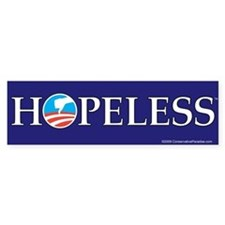 HOPELESS anti Obama bumper sticker