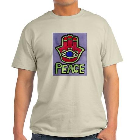 Hamsa Peace #1 Ash Grey T-Shirt