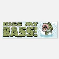 Kiss My Bass Bumper Bumper Bumper Sticker