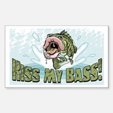 Kiss My Bass Rectangle Decal