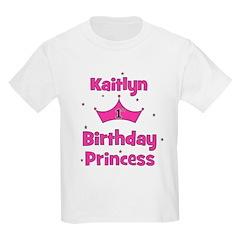 1st Birthday Princess Kaitlyn T-Shirt