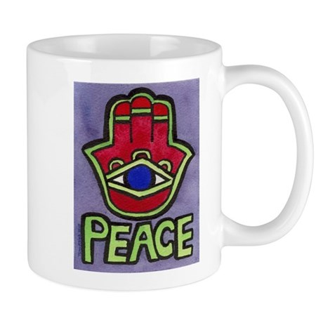 Hamsa Peace #1 Mug for LEFTIES