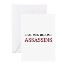 Real Men Become Assassins Greeting Cards (Pk of 10