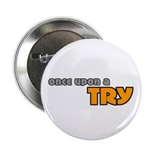 Once Upon A Try Rugby Button
