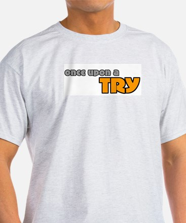 Once Upon A Try Rugby Ash Grey T-Shirt
