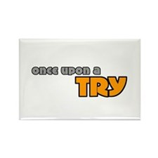 Once Upon A Try Rugby Rectangle Magnet