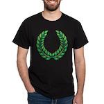 Green laurel on Black - 10
