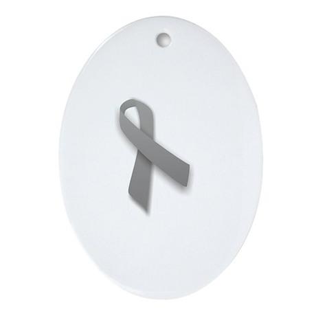 Gray Oval Ornament