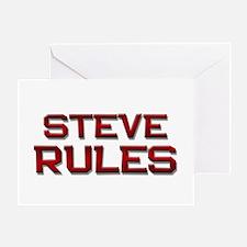 steve rules Greeting Card