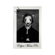 Edgar Mouse Poe Rectangle Magnet