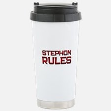 stephon rules Stainless Steel Travel Mug