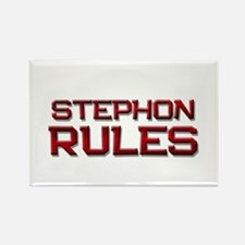 stephon rules Rectangle Magnet