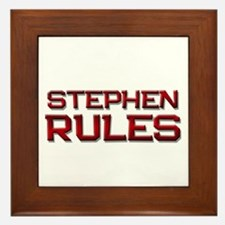 stephen rules Framed Tile