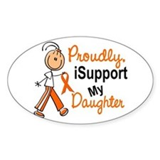 iSupport My Daughter SFT Orange Oval Decal