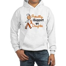iSupport My Daughter SFT Orange Hoodie Sweatshirt