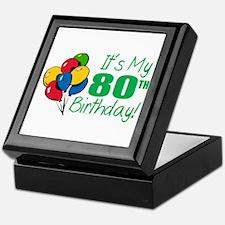 It's My 80th Birthday (Balloons) Keepsake Box
