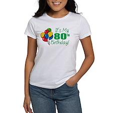 It's My 80th Birthday (Balloons) Tee