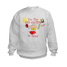 I'm The Big Sister TWINS Sweatshirt