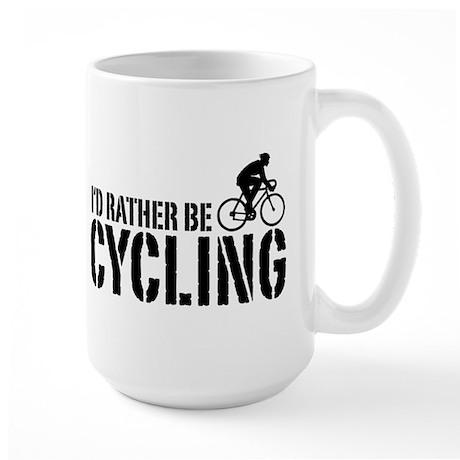 I'd Rather Be Cycling (Male) Large Mug