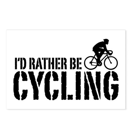 I'd Rather Be Cycling (Male) Postcards (Package of