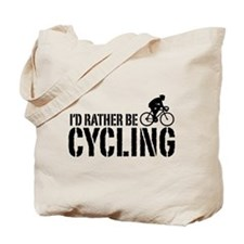 I'd Rather Be Cycling (Male) Tote Bag
