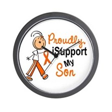 iSupport My Son SFT Orange Wall Clock