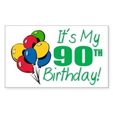 It's My 90th Birthday (Balloons) Decal