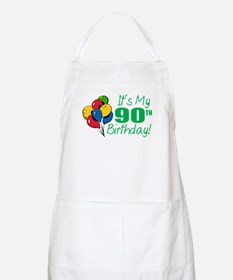 It's My 90th Birthday (Balloons) BBQ Apron