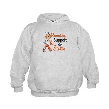 iSupport My Sister SFT Orange Kids Hoodie