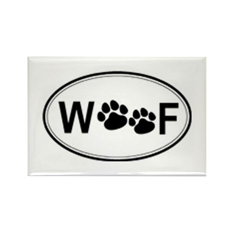 Woof Rectangle Magnet