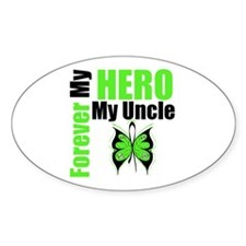 Lymphoma Hero Uncle Oval Decal