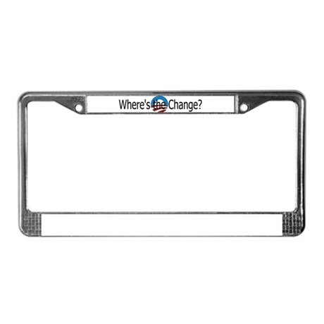 Where's the change? License Plate Frame