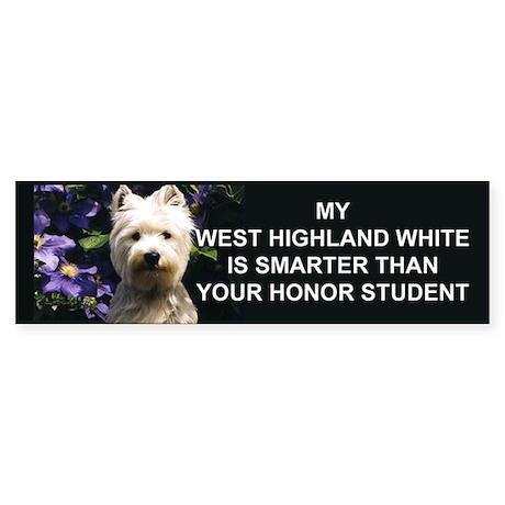 westie Honor student Bumper Sticker