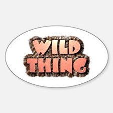 Wild Thing 1 Oval Decal