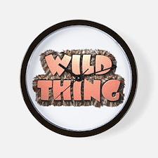 Wild Thing 1 Wall Clock