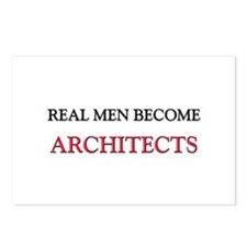 Real Men Become Architects Postcards (Package of 8