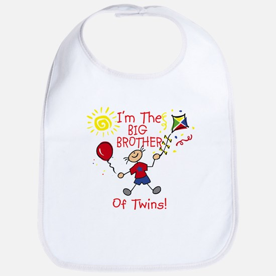 I'm The Big Brother of Twins Bib