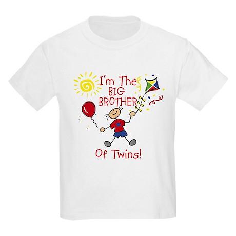 I'm The Big Brother of Twins Kids Light T-Shirt