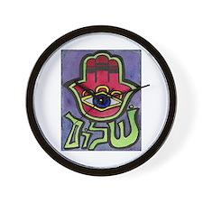 HAMSA SHALOM #1 Wall Clock